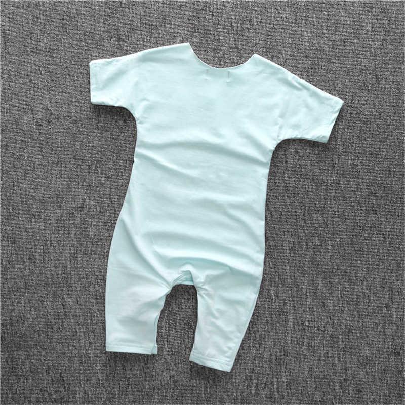 Летний комбинезон с коротким рукавом для новорожденных, хлопковые детские с буквенным принтом, одежда для малышей, комбинезоны, Повседневная Милая одежда, боди, костюмы