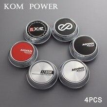 KOM 64/56mm clip set of 4 car styling advan wheel cover cap auto universal accessory trim center enkei ssr xxr logo modified