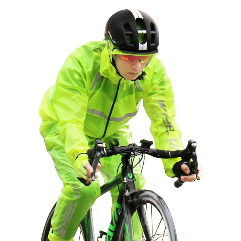MTB Cycling Raincoat Sets Bicycle Jacket Windcoat with Cycling Pants Cycling Jersey Clothing Rainwear Sets Cycling Equipment