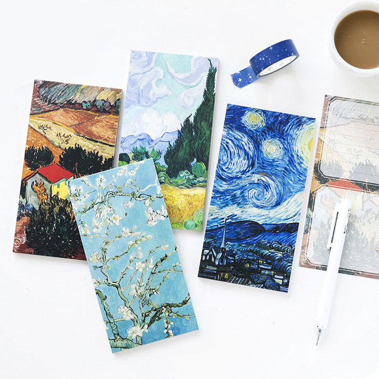 Vintage Memo Pads Vincent Van Gogh Starry Night Post It Note Notepad Easynote Workpad Agenda Paper School Stationery