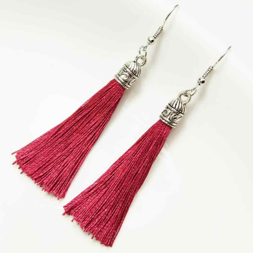 Tassel Earrings Bohemian Alloy Flower Pattern Dangle Drop Earrings For Women Gifts