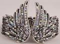 Pulseira de asas de anjo de penas mulheres biker jóias antique gold & silver plated W/cristal atacado dropshipping D01