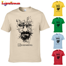 New Fashion Mens Cool Tee Shirt Tops 2019 Short Sleeve Cotton T-shirts Breaking Bad T Shirts Men Heisenberg Camisetas Hombre(China)