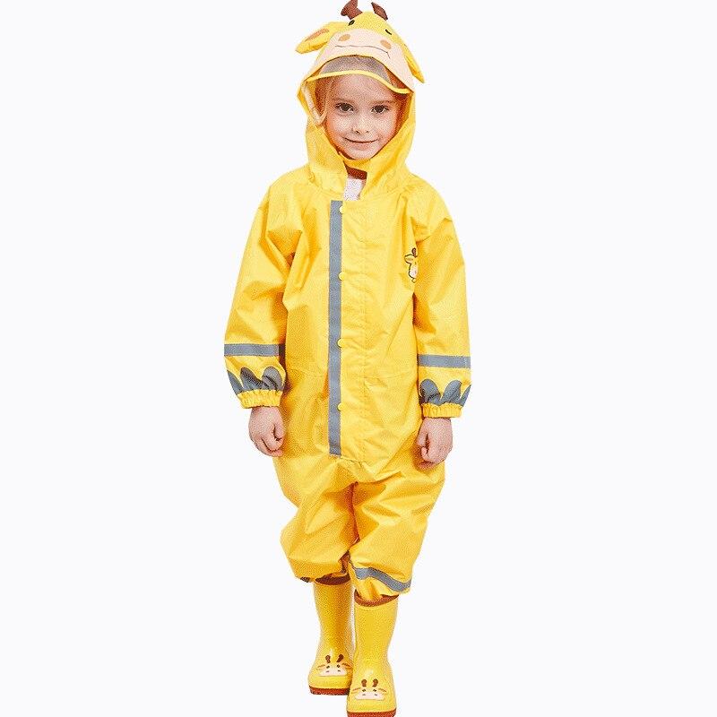 Children Waterproof Rain Pants New 2019 Waterproof Overalls 3-8Yrs Baby Boys Girls Jumpsuit Fashion Children RainCoat DWQ006