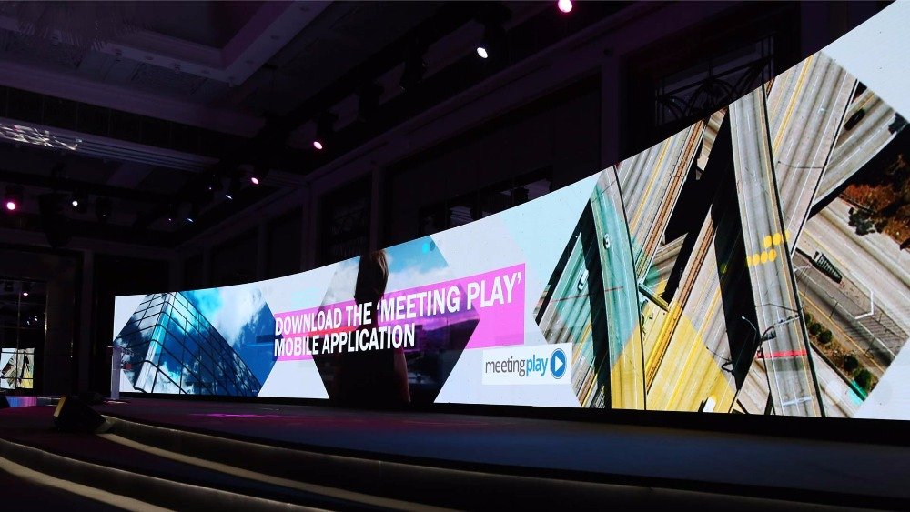 Indoor led screen, full color, smd die casting aluminum cabinet curve rental led display video wall for advertising/ live show