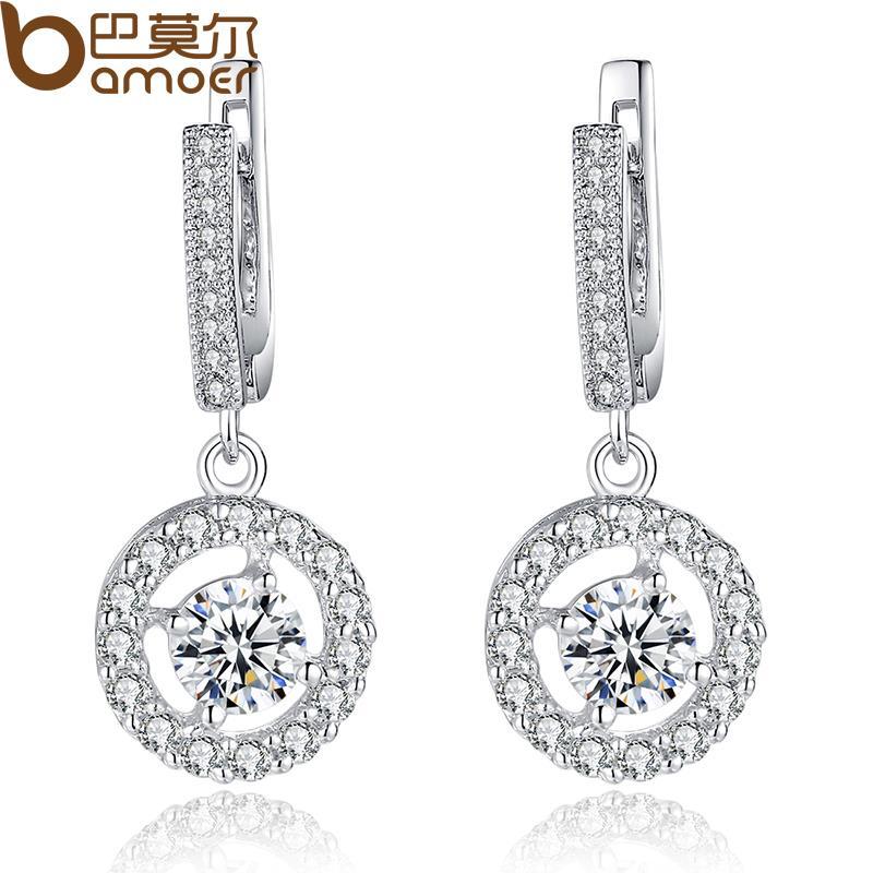 Bamoer Shine European 925 Sterling Silver CZ Queen Bee Gold Dangle For Bracelet