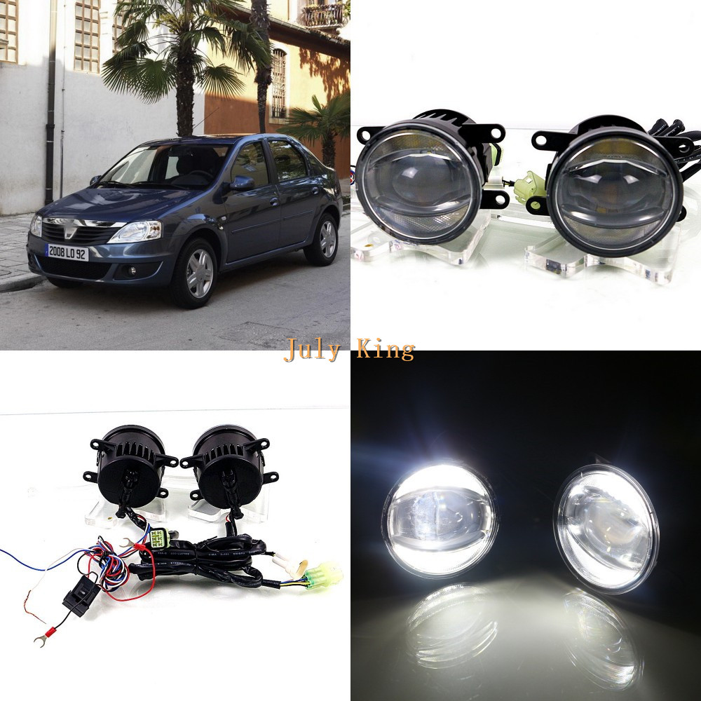 July King 1600LM 24W 6000K LED Light Guide Q5 Lens Fog Lamp +1000LM 14W Day Running Lights DRL Case for Dacia Logan 2004-2009 july king 1600lm 24w 6000k led light guide q5 lens fog lamp 1000lm 14w day running lights drl case for ford focus ii iii 06 14