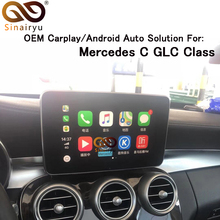 Sinairyu 2019 Nuovo IOS Auto Apple Airplay Android Auto CarPlay Box Per Benz CLA GLA GLC GLE classe 15-17 NTG 5.0 del Sistema OPERATIVO