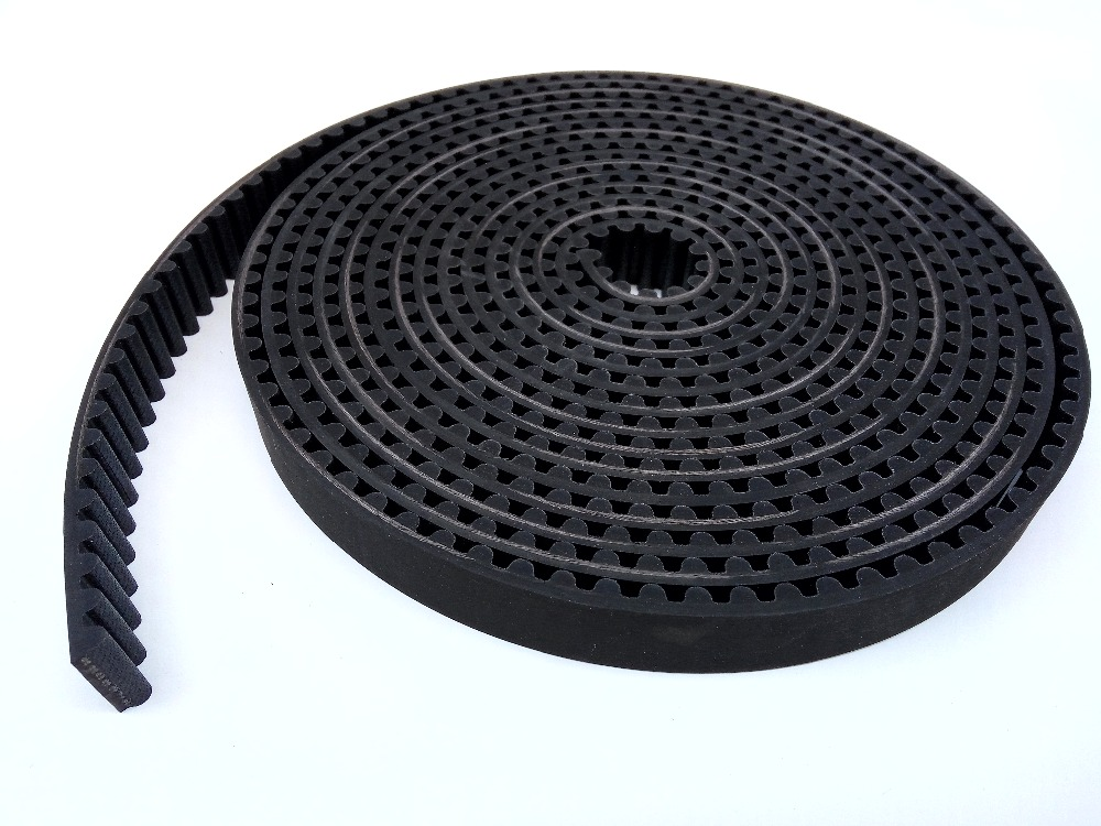 Rubber Open ended timing belts HTD 8M width 20mm High torque HTD8M belts 7 meter 100