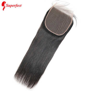 Superfect 6x6 Lace Closure Brazilian Straight Hair Human Hair Lace Closure With Baby Hair Swiss Lace 8''-22'' Remy Hair - DISCOUNT ITEM  40% OFF All Category