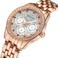 Relogio feminino 2016 Luxury Brand KINGSKY Diamond Gold Bracelet Quartz Watch Fashion Casual Wristwatch Rhinestone Clock Female