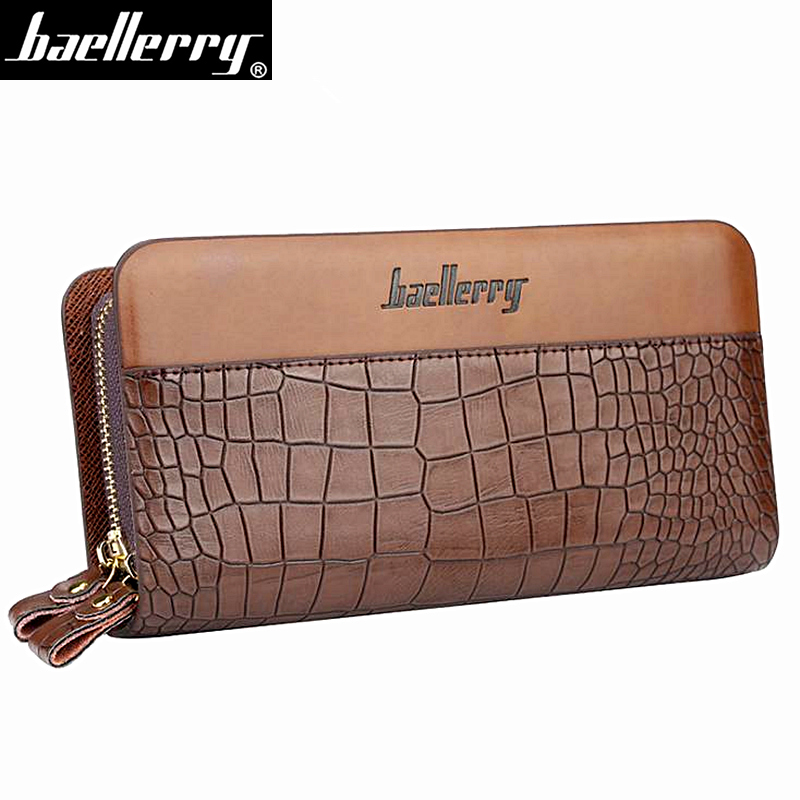 Wallet Clutch Money-Bag Crocodile-Pattern High-Quality Card-Holder Coin-Pocket Male Double-Zipper