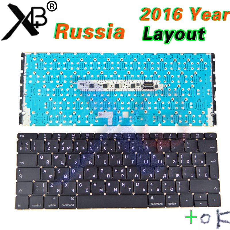 A1534 Laptop Russian RU Keyboard Backlight Backlit Screws for Macbook 12 A1534 Russia Keyboard 2016 2017