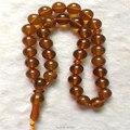 Hermosa Tasbih 33 perlas creadas en laboratorio de Ámbar 10mm Forma Redonda de color Champán Cuentas de Oración Allah Oración Rosario Envío gratis