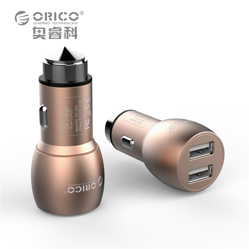 Dual Usb Mini Car Charger Adapter Led 2 4A for Iphone Samsung Car Charging Accessories Aluminum