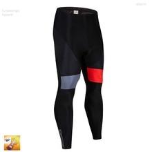 Команда Спорт Для мужчин гоночная команда задействуя длинные велошорты Coolmax 16D Pad для горного велосипеда с лямками штаны колготки велосипеда гоночные брюки