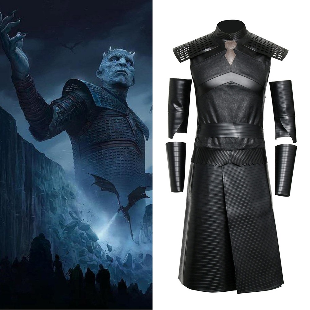 Game of Thrones Night s King Cosplay Costume White Walkers Commander Outfit Full set Men Halloween