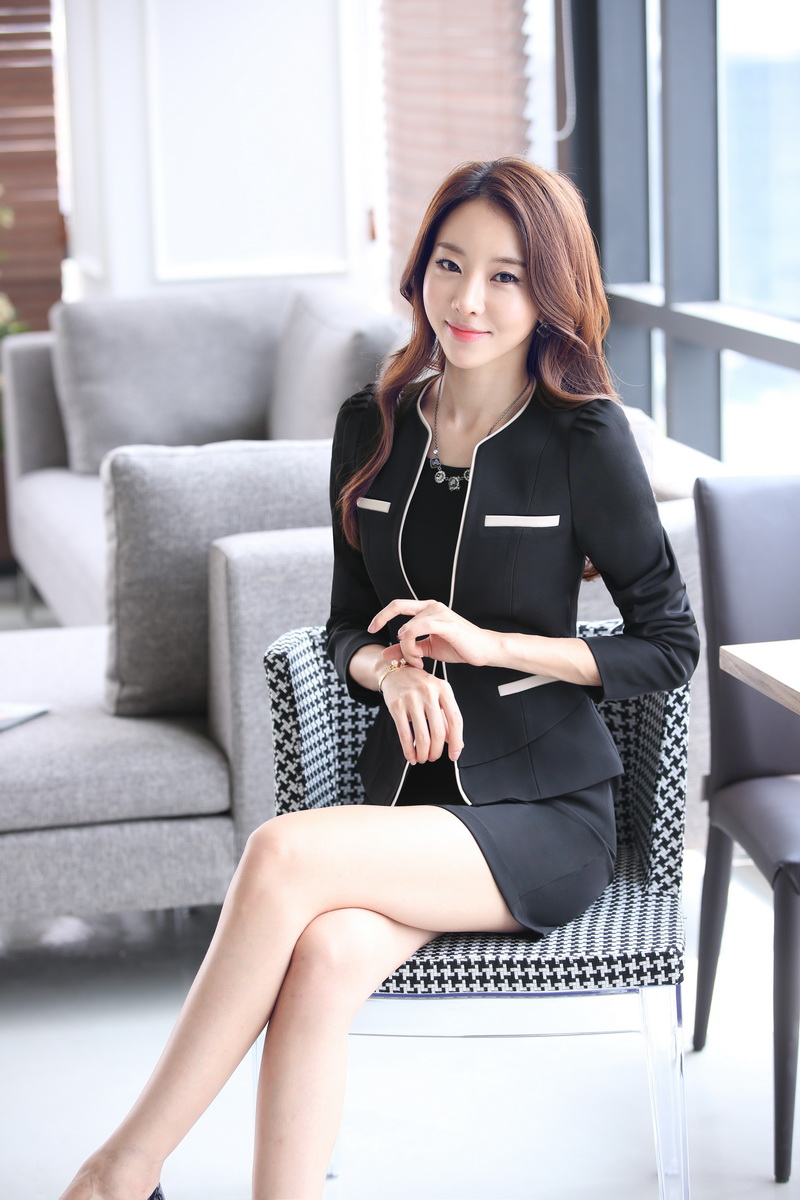 6fd3033b5e0 Plus Size Professional Spring Fall Business Suits With Jackets And Dress  Ladies Office Blazers Outfits OL Styles