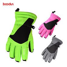 Children Ski Gloves Winter Fleece Thermal Skiing Snowboard For Kids Windproof Touch Screen Childrens Cycling