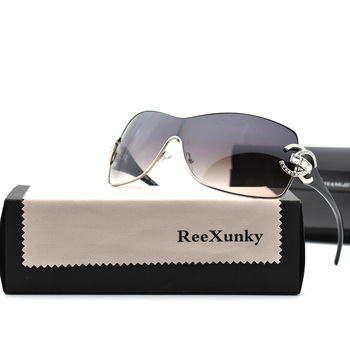 Fashion Sexy Sunglasses Women 2021 Crystal Diamond Oversized Lenses Gradient Sunglass Brand Designer Shades UV400 lunette femme