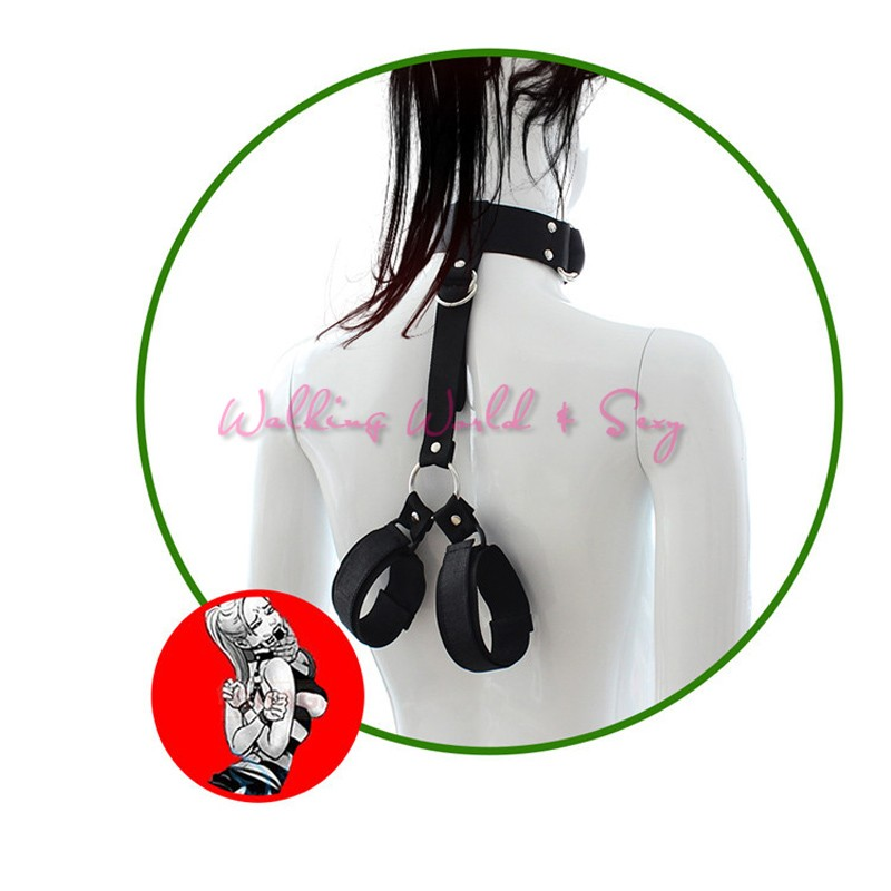 Female Hands Neck Connecting Bondage Restraints Bondage Collar Fetish Bondage Sex Toys For Women Erotic Toys Cosplay Wrist Cuffs (8)