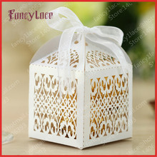 Hot Sale Laser Cutting Figure Paper Gift Candy Chocolate Box Customized for Party Decoration,100PCS