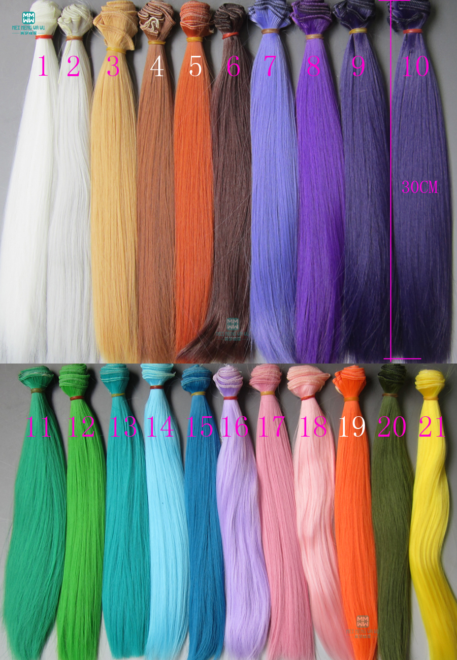 1pcs 30cm*100CM   Straight Hair Doll For 1/3 1/4 1/6 BJD/SD Doll Accessories Wigs