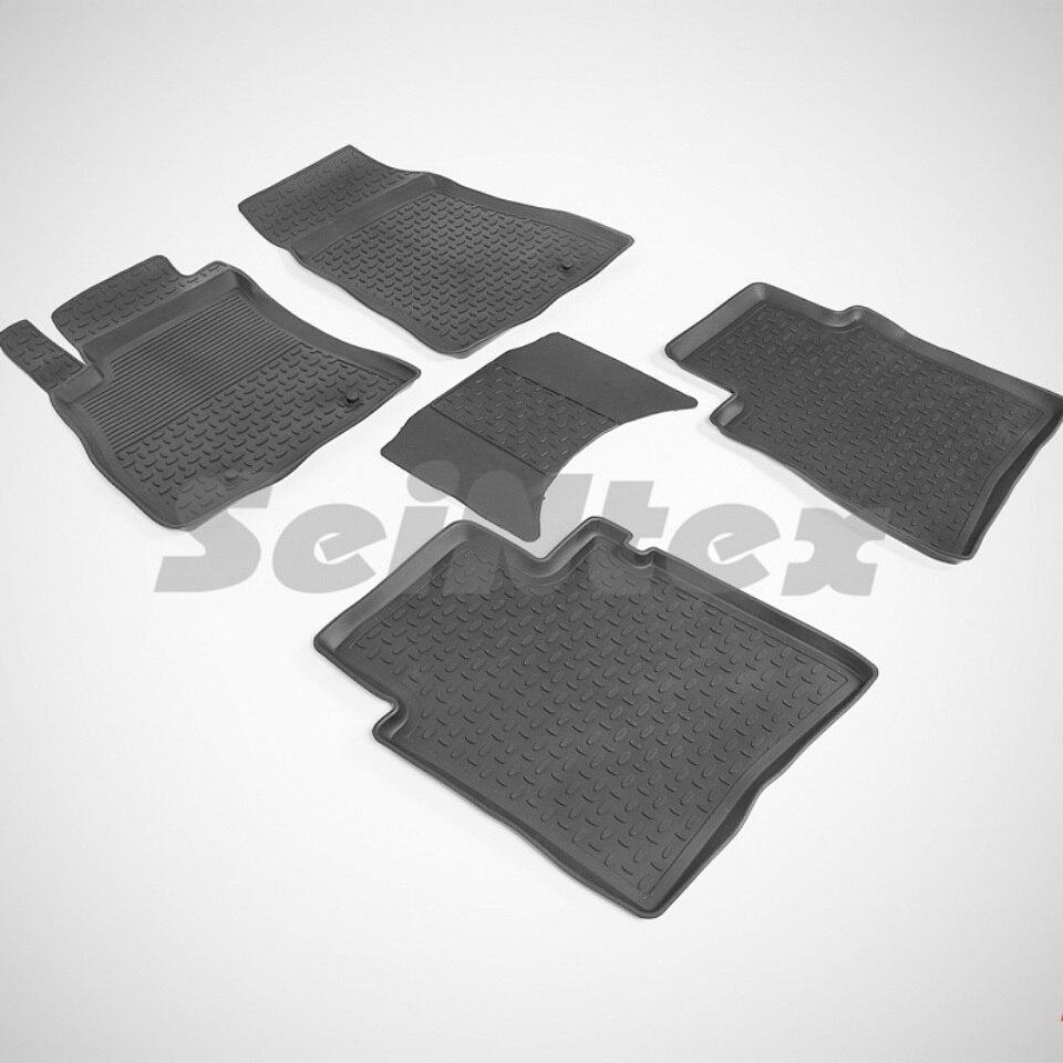 цена Rubber floor mats for Nissan Tiida C13 (2015-2018) Seintex 86070 в интернет-магазинах