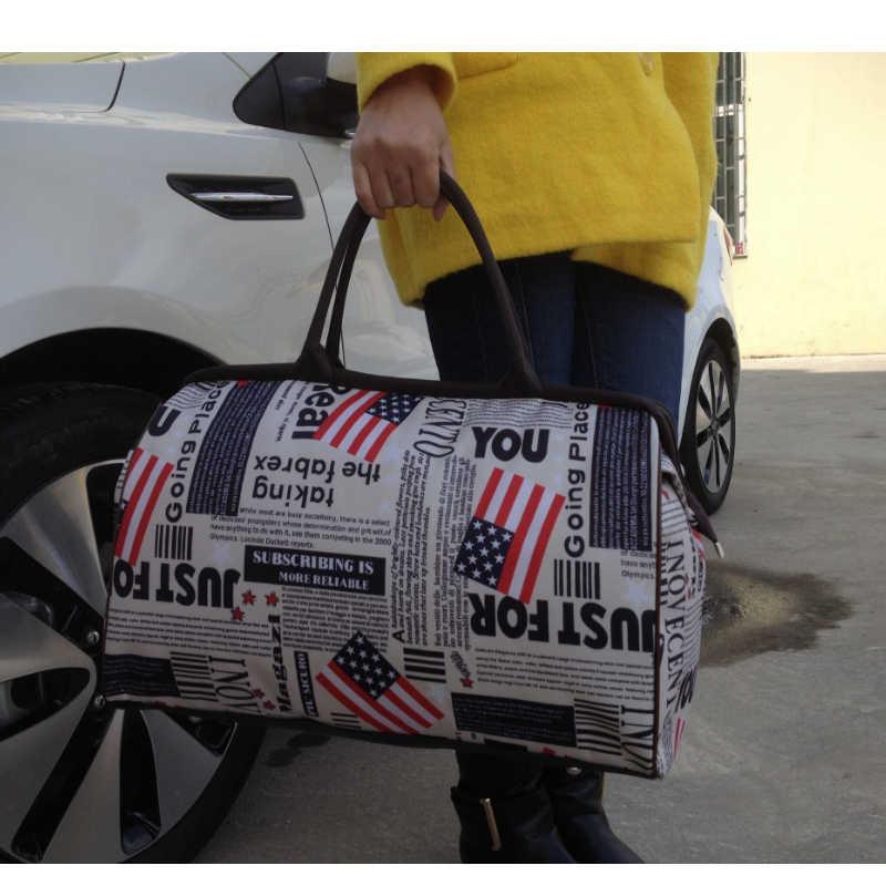 Sacos de bagagem Sacos de Viagem de Grande Capacidade à prova d' água Da Lona Bolsas Buyuwant BW01-SB-stxlds impressão de papel da Notícia