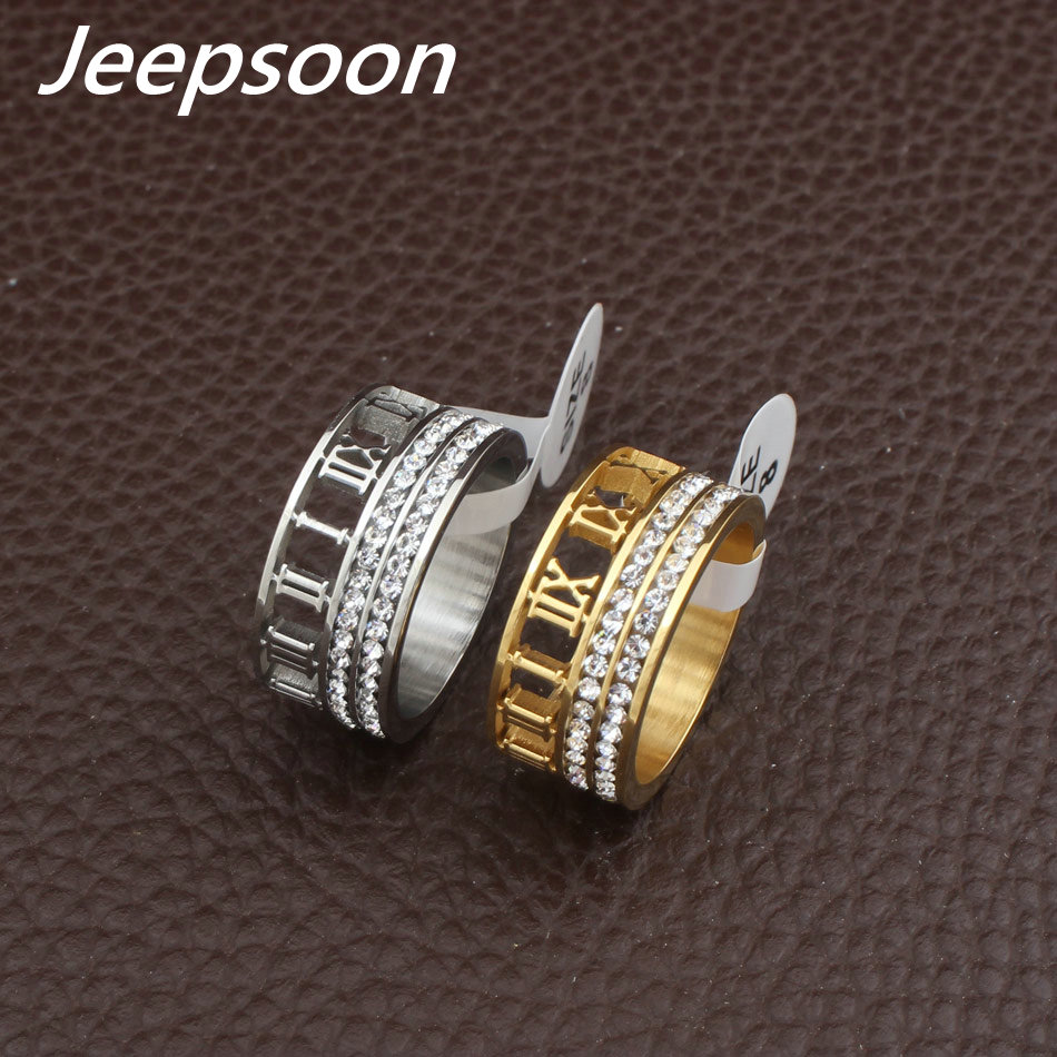 Newest HOT Selling Wholesale Fashion Jewelry  Stainless Steel Jewelry Gold And Silver Color Rings RBJFAOBC