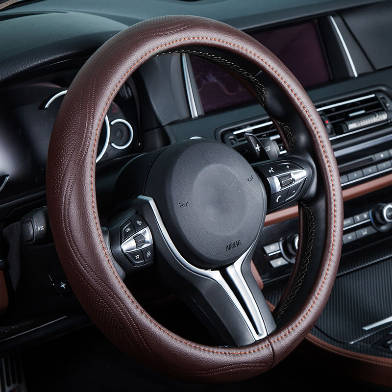 Couverture de volant de voiture véritable en cuir auto accessoires pour Volkswagen vw volante jusqu'à fox beetle bora gol polo berline