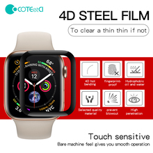 COTEetCI 4D Fully Covered With Toughened Full Glue Glass Screen Protector Film For I Watch For Apple Watch 4 Series 40mm/44mm