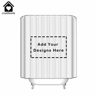 CHARMHOME Custom Photo Shower Curtain Waterproof Polyester Fabric Bath Curtains For Bathroom With Hooks Big Size