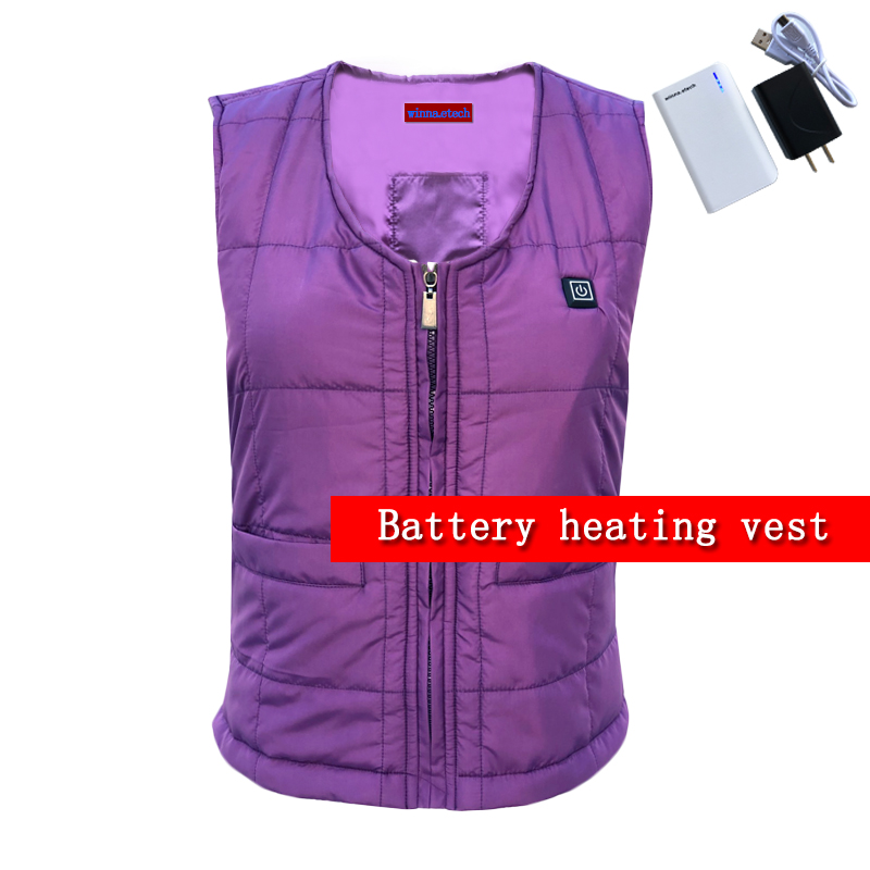 Winter Warm Down Cotton Heated Vest Women Vest 3 Level Temperature Control Thermal Hiking Eletric Heating Vest Size S-XXXL xixu 3 номер xxxl