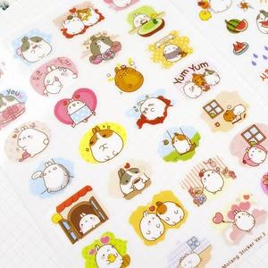 Корейские милые наклейки для ноутбука, сделай сам, украшения, липкий альбом, дневник, скрапбукинг, наклейки для детей, канцелярские принадлежности
