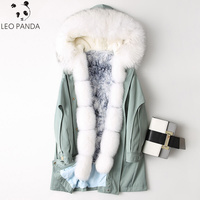 Women Coat 2019 New Style Cotton Jacket Parka Coat Polyester Lining With Real Raccoon Fur Collar Fox Fur Girl Fashion Over Coat