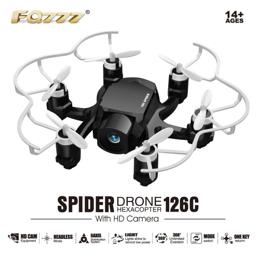 HIINST RC helicopter MINI Spider Drone HD Camera FQ777 126C helicopter 3D Roll One Key to Return Dual Mode 4CH Y1124 mini drone rc helicopter quadrocopter headless model drons remote control toys for kids dron copter vs jjrc h36 rc drone hobbies