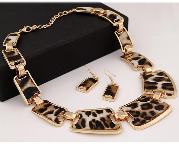 Kymyad Smykkesæt Mode Populære Elegant Punk Geometrisk Leopard Link - Mode smykker - Foto 4