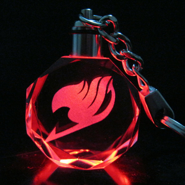 Fairy Tail Crystal Led Light Key Chain