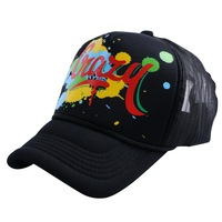 Wholesale 5 Panels Summer Baseball Cap Women Men Mesh Fitted Print Sports Hats 58 CM Adult