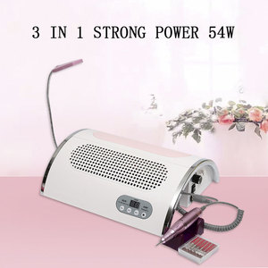 Image 4 - 3 In 1 Strong Power 54W Nail Fan LED UV Lamp Vacuum Cleaner Suction Dust Collector 25000RPM Nail Dryer Drill Machine Tools