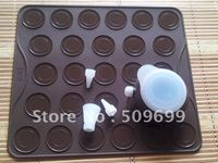 silicon macaron mat with Decoration 4 tips and 1 nozzle set ,macaron moulds, macaron sheet,macaron baking-free shipping