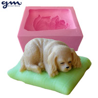 Free Shipping Hot New Arrival 3D Dog Soap Silicone Mold Silicone Soap Mold Cake Mold