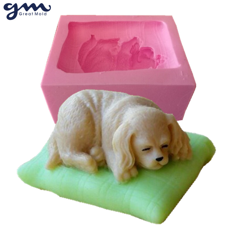 3D Dog Soap Mold Silicone Soap Mold Silicone Mould til Soap Chocolate Mould
