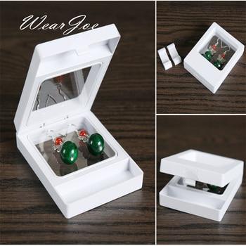 7*9CM Elastic Membrane Floating Jewellery Display Stand Holder Ring Earring Beads Gemstones Storage Package Gift Box White/Black circle