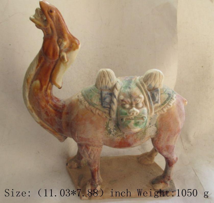 Разработать древние китайцы Тан Sancai керамический верблюд Дракон Статуя