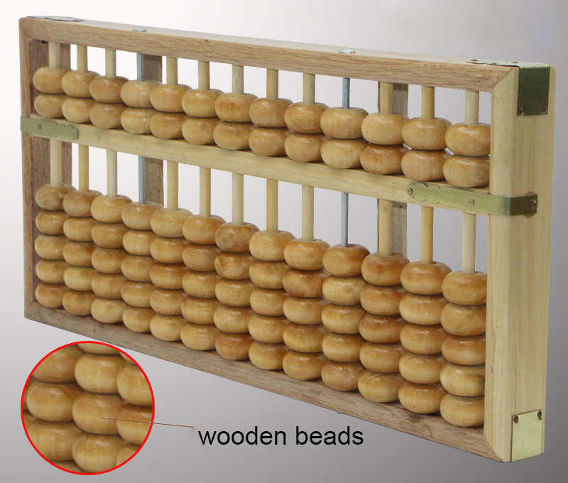 Haute qualité 13 colonne bois massif Abacus chinois soroban outil en mathématiques éducation outil de calcul yo026