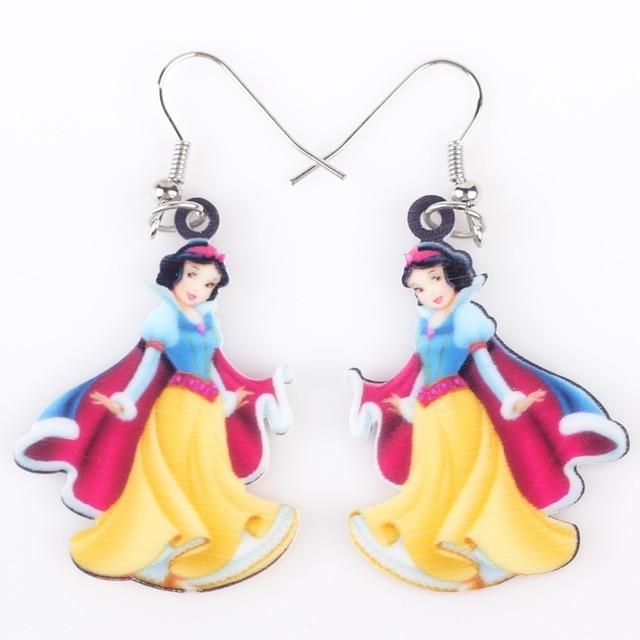 Newei Long Drop Brand Cute Yellow Princess Earrings Acrylic New Animal Jewelry S Women Cartoon