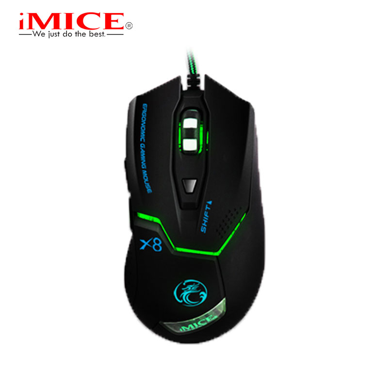 iMice Gaming font b Mouse b font 6 Buttons 3200 DPI X8 Professional Wired Optical Wired