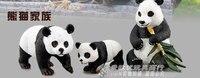 pvc figure cute panda 3pcs/set